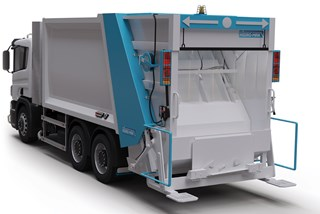 Rear Loader Refuse Truck with Container Washing System