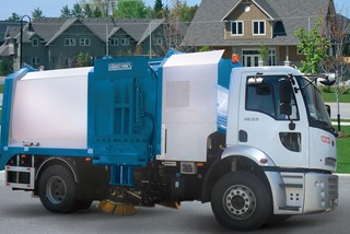 Road Sweeper with Garbage Compactor
