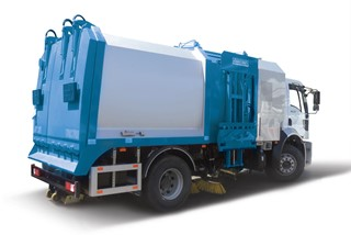 Road Sweeper and Garbage Truck (Loading Side)