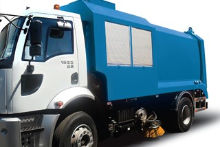 Road Sweeper with garbage Compactor (sweeper side)