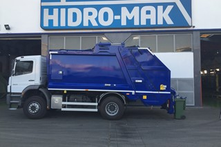 Garbage Truck Rear Loaded for recycling |EcoTwin | HidroMak |