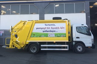 Refuse collection truck Fuso b75